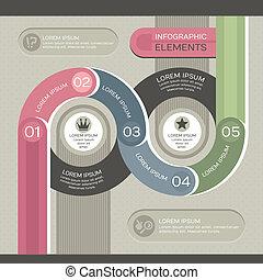 infographic, moderne, skabelon