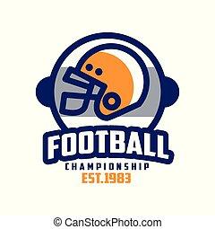insignie, est, 1983, fodbold, emblem, illustration, amerikaner, vektor, baggrund, hold, logo, hvid, sport, konstruktion, mesterskab