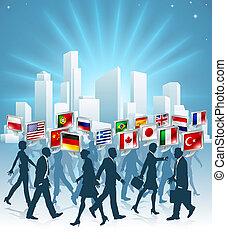 internationale, begreb, firma