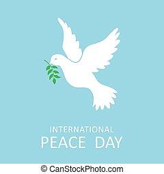 internationale, dykke, oliven, fred, branch, dag