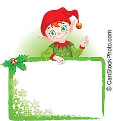 invitere, og, alf, sted, card christmas