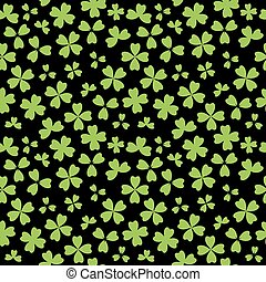 irsk, blade, seamless, shamrock, baggrund, hvid