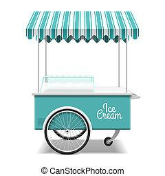 is, cart, fløde