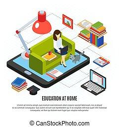 isometric, begreb, undervisning, online