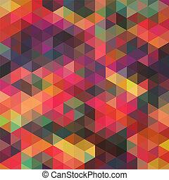 it., trekant, backdrop., farverig, mønster, top, shapes., trekanter, baggrund., baggrund, hipster, mosaik, tekst, sted, geometriske, din, bagtæppe, retro