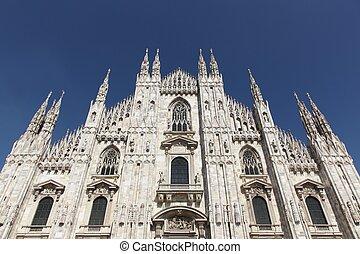 italien, katedral, milan