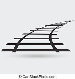 jernbane, ikon