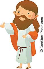 jesus kristus, side udsigt