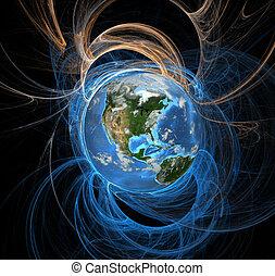 jord, energi, felter, vest