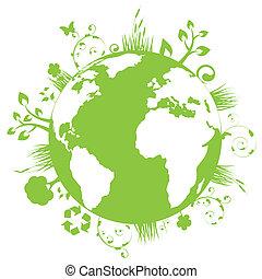 jord, grønne