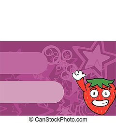 jordbær, cartoon, background14