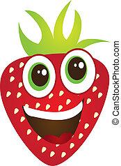 jordbær, cartoon