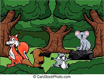 jungle, dyr, scene