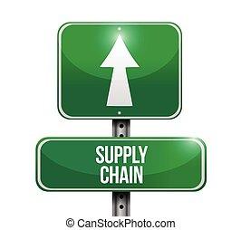 kæde, forråd, illustration, tegn, konstruktion, vej