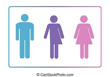 køn, neutral, tegn, hvile rum