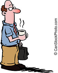 kaffe, firma, /, ansatte, har, mand