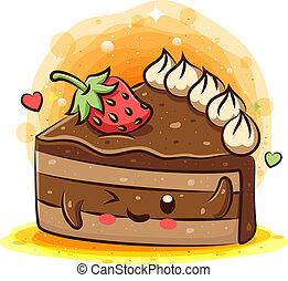 kage, cartoon, velsmagende, kawaii, karakter