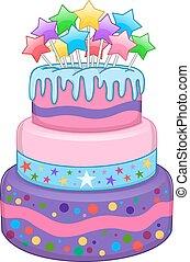 kage, stjerner, tre, gulve