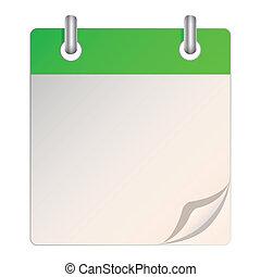 kalender, blank