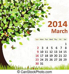kalender, marts, 2014