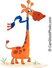 karakter, cartoon, cute, giraf