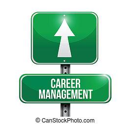karriere, ledelse, vej, illustration, tegn