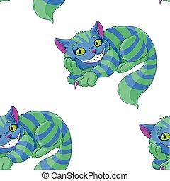 kat, mønster, cheshire