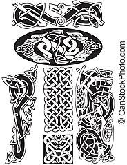 keltisk, vektor, art-collection.
