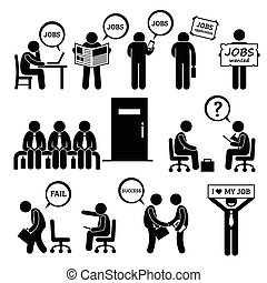 kigge, interview, arbejde, mand