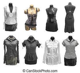 klæde, mannequin, samling