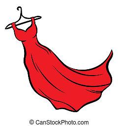 klæde, rød