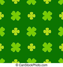 kløver, leaves., vektor, shamrock, banner., baggrund, patricks, glade, dag, enkel, pattern., st., seamless, gentagen, cute