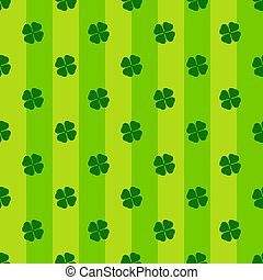 kløver, leaves., vektor, shamrock, banner., baggrund, patricks, glade, dag, enkel, stribet, pattern., st., seamless, gentagen, cute