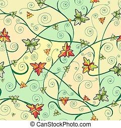 kløver, mønster, blade, seamless, day., st.patrick's