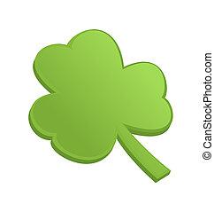 kløver, patrick, st., shamrock, grønne, dag