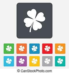kløver, patrick, symbol, st.., fire, blade, tegn.