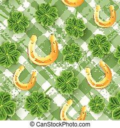 kløver, wallpaper., blomst, san, festival., mønster, ornamentere, leaves., dag, shamrock, realistiske, øl, grønne, skotske, glæde, græs, patrick's, irsk