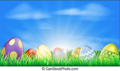 klar, påske ægger, baggrund