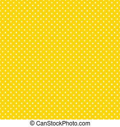 klar, polka, seamless, gul, prikker