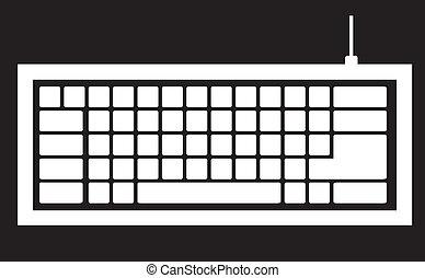 klaviatur computer, silhuet