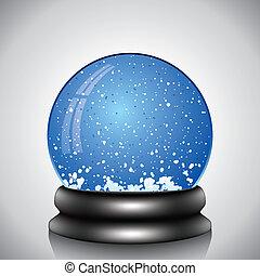 klode sne, vektor
