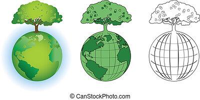klode, træ