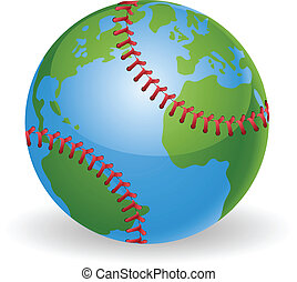 klode verden, begreb, baseball bold