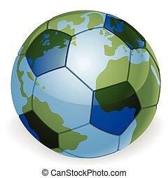 klode verden, begreb, bold, soccer