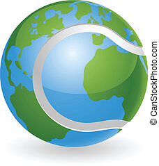 klode verden, begreb, bold, tennis