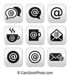 knapper, email, wifi, cafe, internet