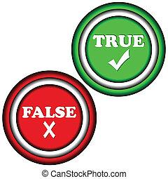 knapper, sande, falsk