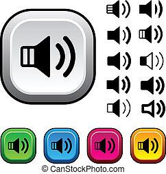 knapper, vektor, taler, iconerne