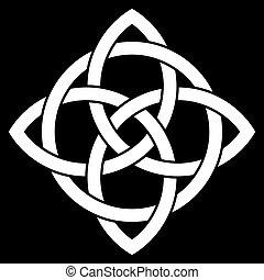 knude, punkt, 4, keltisk, smukke