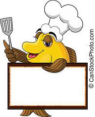 koge, morsom, fish, cartoon, gul
